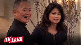 Hot in Cleveland Blooper: George Takei Helps Valerie Bertinelli With Her Line