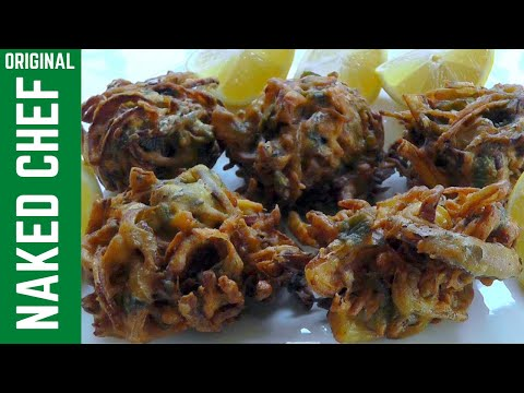 Indian food - ONION BHAJIS - perfect starter How to cook recipe