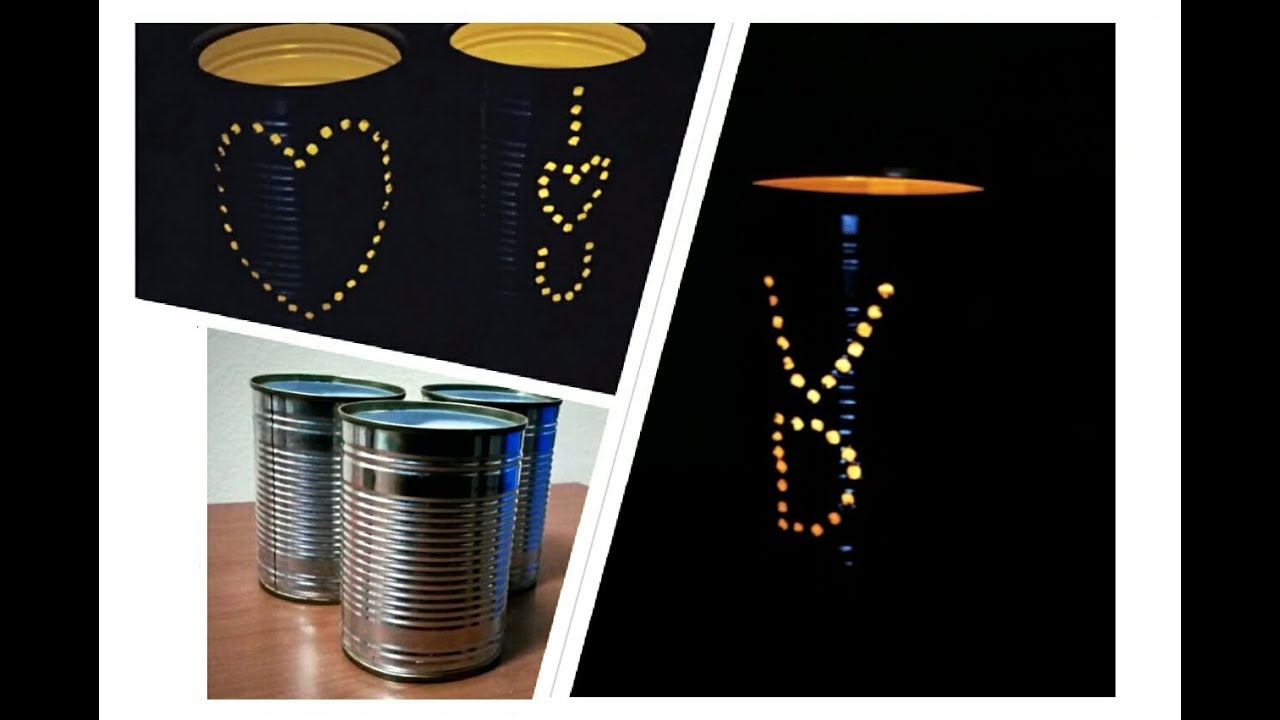 How to make tin can lanterns - How To Make Beautiful Tin Can Lantern Diy Tin Can Lantern Diy Tin Can Crafts Tin Can Decord
