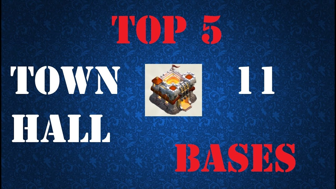 Top 5 town hall 11 war bases trophy base december update clash of