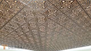 205 Antique Copper Faux Tin Ceiling Tile - DIY Home Decor - Talissa Decor