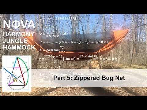 Nova Harmony Jungle Hammock Part 5: Zippered Bug Net