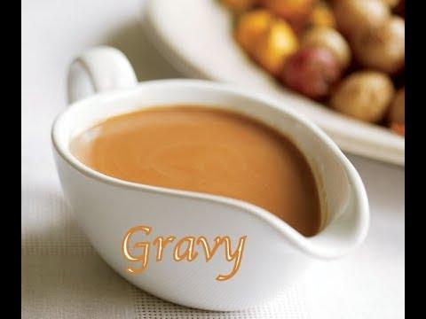 GRAVY  o salsa para bañar las carnes