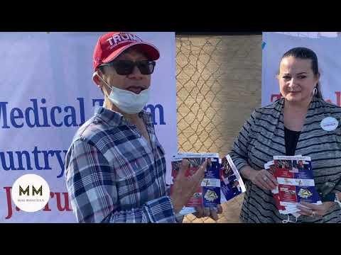 Newport Beach Ca Lido Isle Trump Activists Meet up to Spread the Trump message !