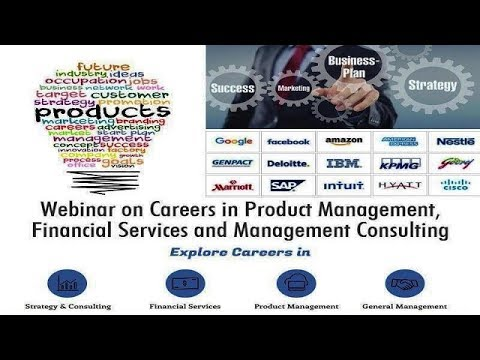 Careers in Management Consulting, Product Management & Financial Services