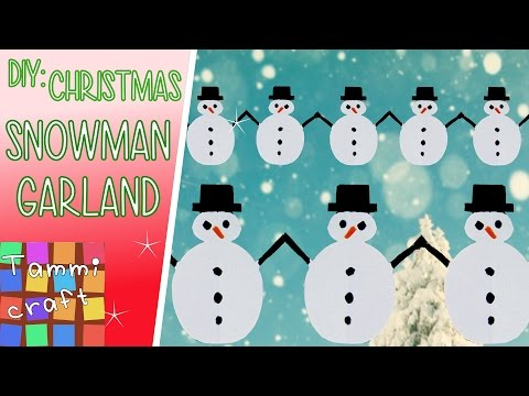 How to Make a Paper Snowman Garland - Great for Kids