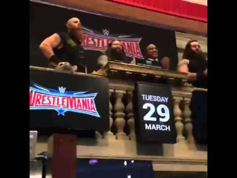 The Wyatt Family open the New York Stock Exchange