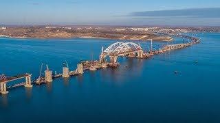 КРЫМСКИЙ МОСТ.Строительство сегодня 26.11.17.Автоподходы к мосту.Поднята опалубка колонны на 253Ж