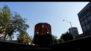 Interactive 360 under a freight train - full length