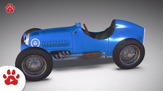Bumper Classic Racing Clio BMW Crashed | Super Cars for Kids | #h Colour Song for Kids