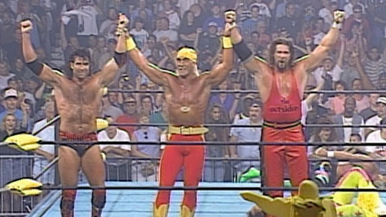 Hulk Hogan sides with The Outsiders: Bash at the Beach 1996