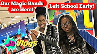 THEY HAD TO LEAVE SCHOOL EARLY | OUR MAGIC BANDS ARE HERE! | JaVlogs