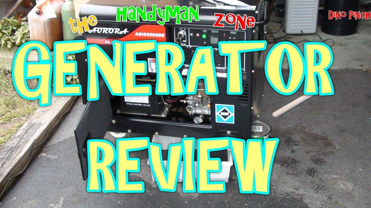Aurora Diesel Generator Unboxing & Review 6500 SDE