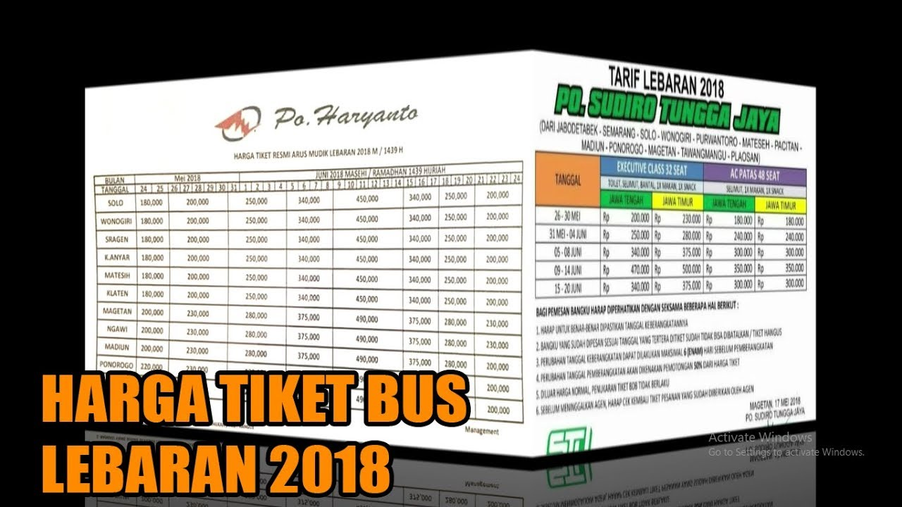 Sekedar Berbagi Informasi Harga Tiket Bus Lebaran 2018