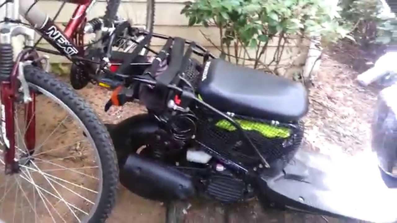 honda ruckus zoomer nps bike rack youtube
