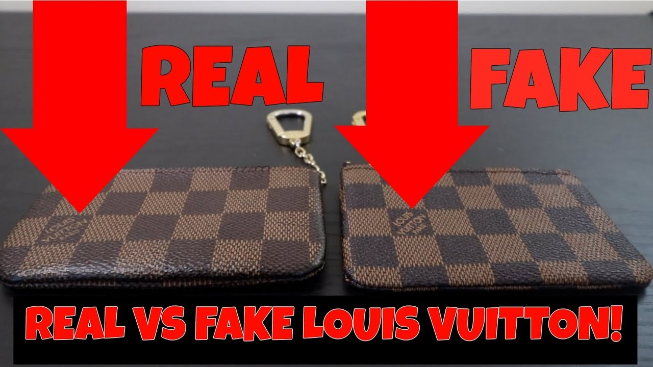 694aa96288541 HOW TO TELL REAL VS FAKE LOUIS VUITTON COIN POUCH - YouTube