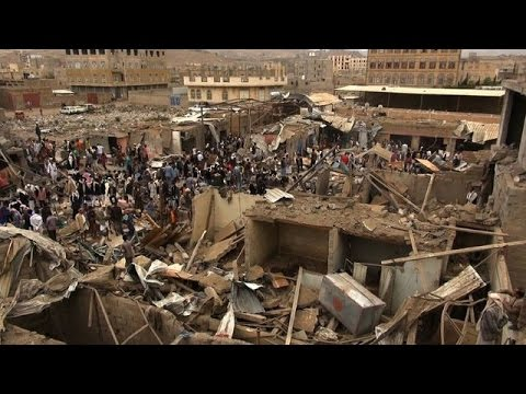 Deadly Saudi-led coalition airstrikes hits Sanaa market