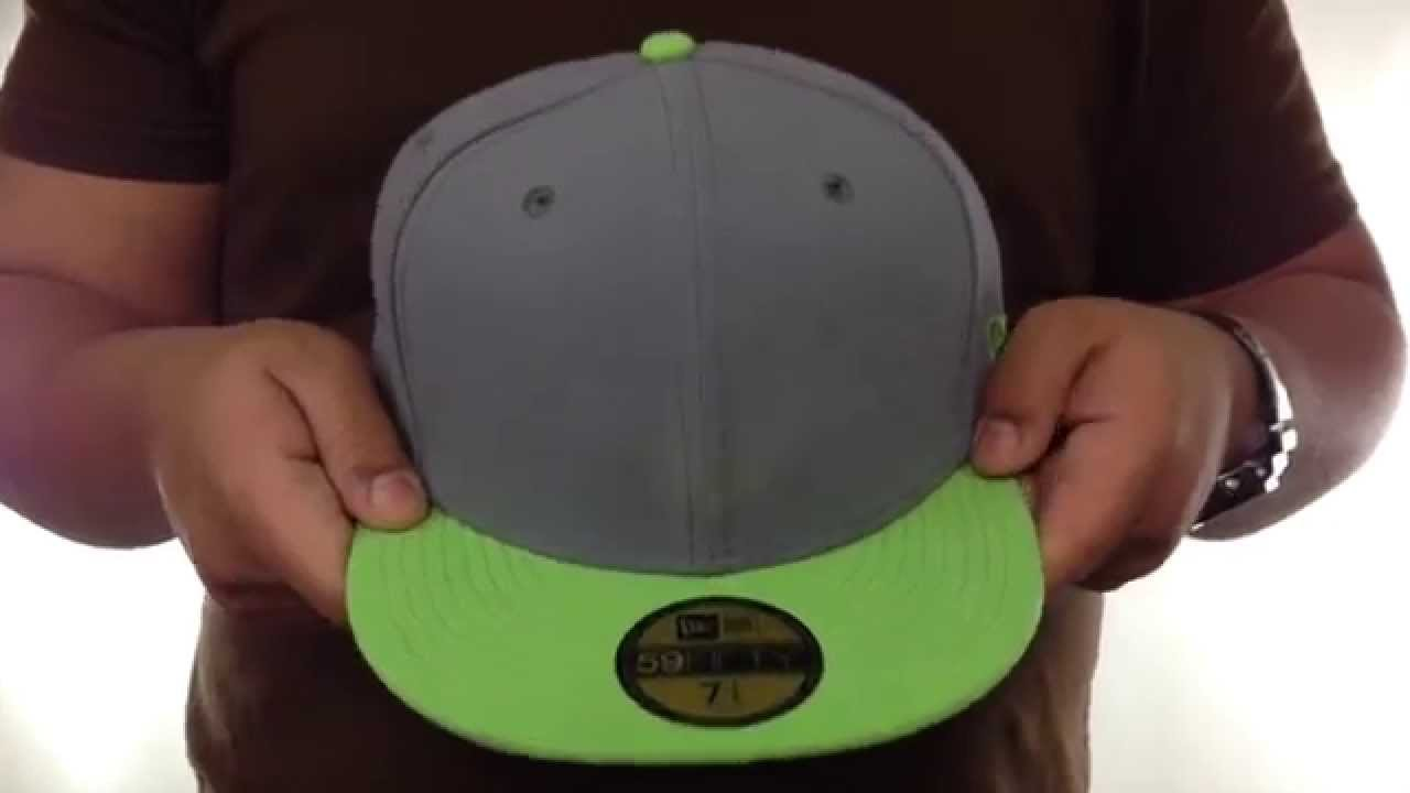 e1f8f6b19 New Era 2T 59FIFTY-BLANK Grey-Lime Fitted Hat