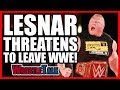 Brock Lesnar Threatens To LEAVE WWE WWE Raw, July 31, 2017 Review