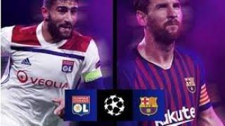 ملخص مباراة برشلونة ضد ليون الفرنسي 5 : 1 مباراة حماس ????????