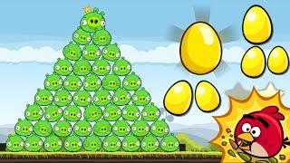 Angry Birds - SECRET GOLDEN EGG BIRDDAY VS PIGGIES!