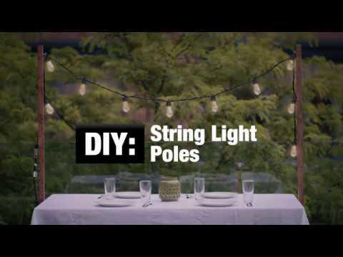 DIY: String Light Poles
