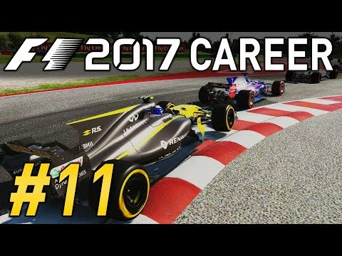 F1 2017 CAREER MODE PART 11 | ATTACKING & DEFENDING AT ONCE! | RENAULT