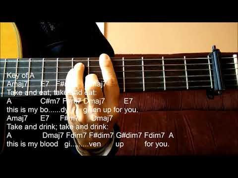 Catholic Hymn Guitar Solo -Take And Eat (Michael Joncas)