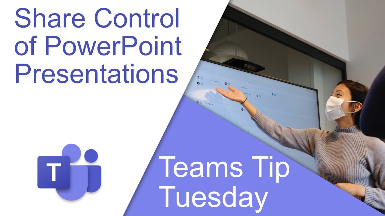 Share Control of a PowerPoint Presentation in a Microsoft Teams Meeting