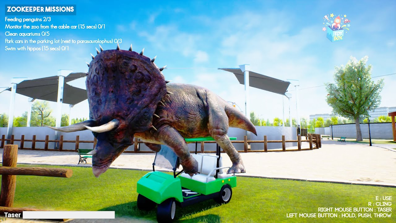 ZOOKEEPER Simulator BUT DINOSAURS Are ATTACKING! Triceratops Funny game