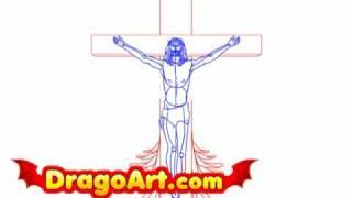 How to draw Jesus, step by step