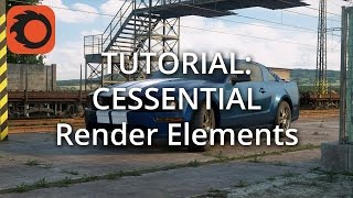 Tutorial: CESSENTIAL Render Elements (2/3: Compositing in Photoshop)