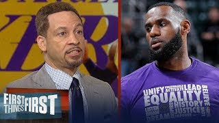 Chris Broussard weighs in on LeBron and the Lakers' playoffs chances | NBA | FIRST THINGS FIRST