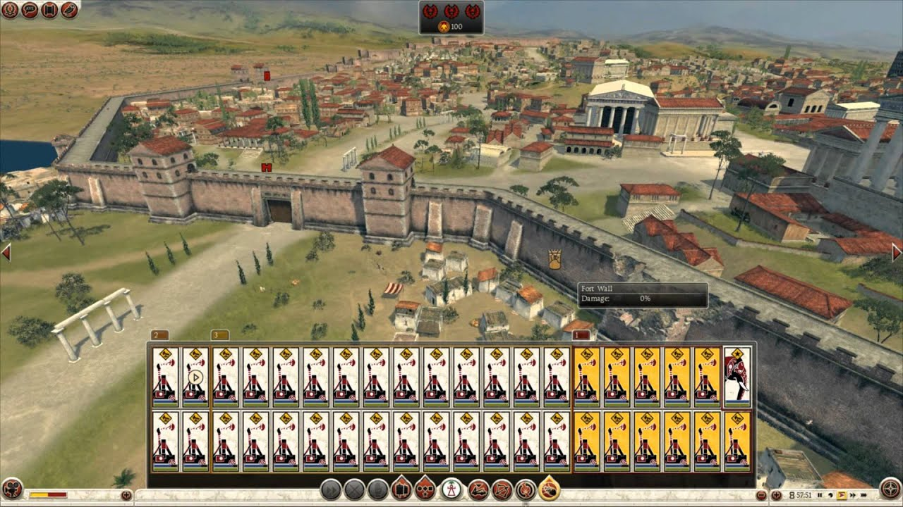 Total War Rome Massive Battles Units Of Onagers Vs The - Rome total war map city locations