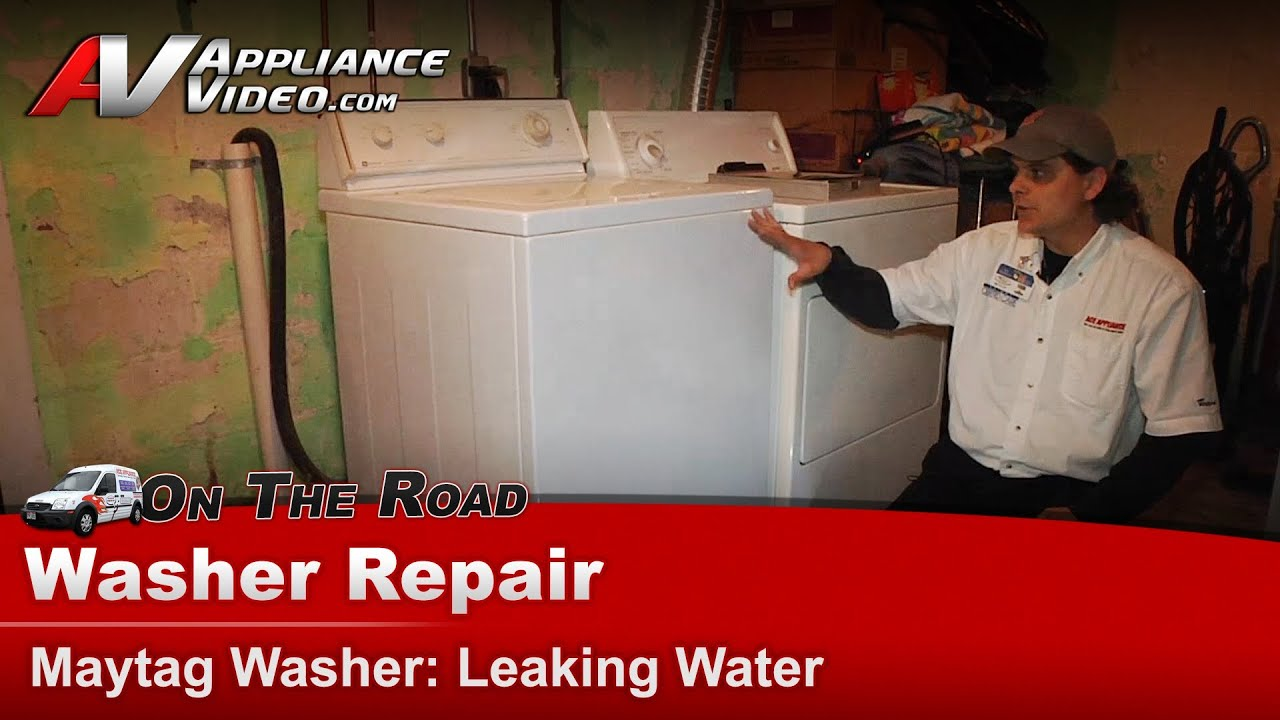 small resolution of washer leaking water repair diagnostic maytag whirlpool sears lat8434aae youtube
