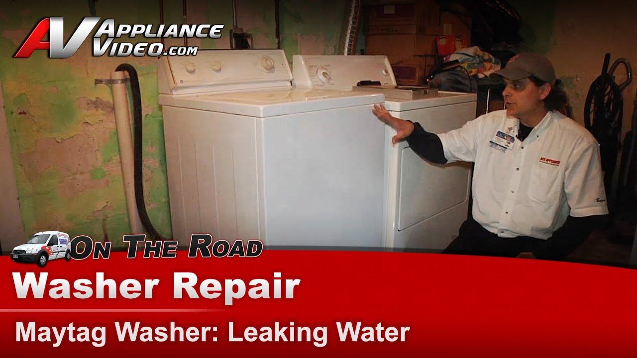 washer leaking water repair diagnostic maytag whirlpool sears lat8434aae youtube [ 1920 x 1080 Pixel ]
