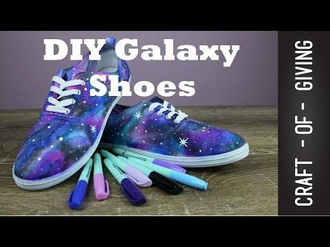 Easy DIY Galaxy Shoes  | Craft of Giving