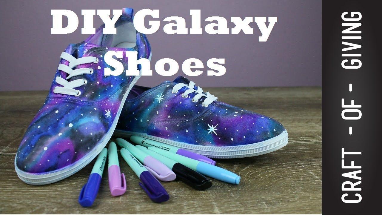 9cee0cbde5fd Easy DIY Galaxy Shoes