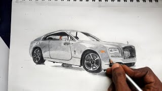 How to draw Rolls Royce ghost speed drawing