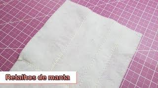 Reutilizando retalhos de manta acrílica
