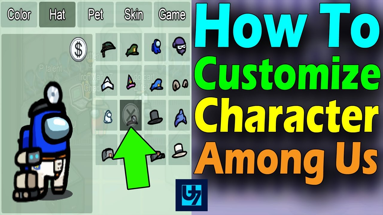How To Customize Character Among Us Youtube