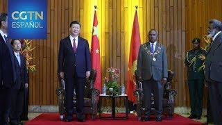 El gobernador general de Papúa Nueva Guinea recibe al presidente Xi Jinping