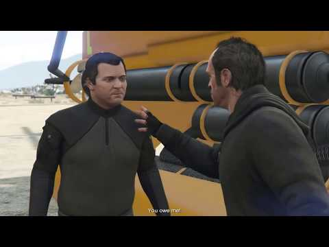 GTA V mission #25 The Merryweather Heist #Offshore (100%)- س