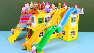 Peppa Pig Blocks Mega House Construction Sets With Water Slide Lego Creations Toys For Kids #6