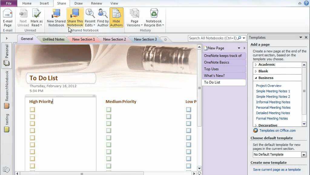 Microsoft Office Onenote 2010 A Tutorial Great Tool Of Office 2010 Youtube