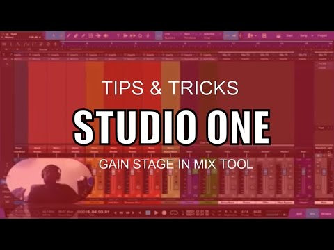 MUSIC PRODUCTION | How to Gain Stage by using the mix tool in Studio One
