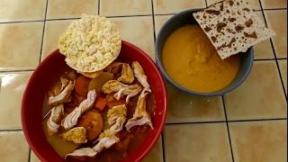 Суп-пюре из СЛАДКОГО картофеля БАТАТА карри и курицы / Velouté de PATATES  DOUCES au curry