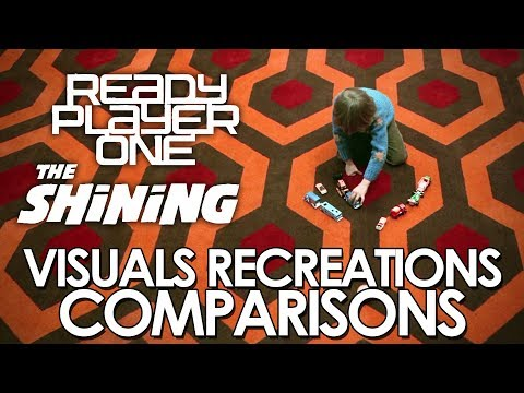 Ready Player One (2018) and The Shining (1980) - visuals recreations comparisons
