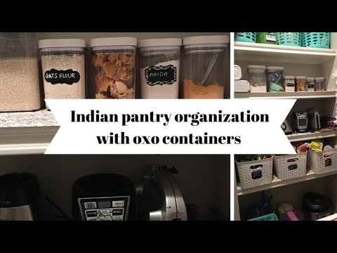 Indian Pantry Organization With Oxo Containers And Baskets From 99