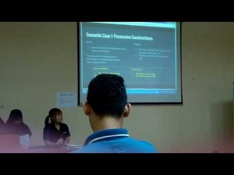 Semantics : Bahasa Melayu vs English
